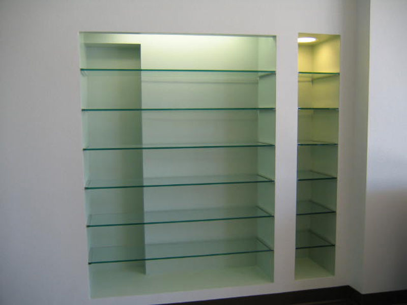 Custom Glass Shelves